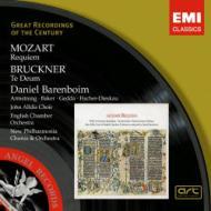 モーツァルト:レクィエム、ブルックナー:テ・デウム バレンボイム&イギリス室内管、ニュー・フィルハーモニア管