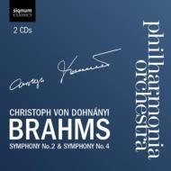 交響曲第2番、第4番 ドホナーニ&フィルハーモニア管弦楽団(2CD)
