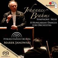 交響曲第4番、ハンガリー舞曲集(8曲) ヤノフスキ&ピッツバーグ交響楽団