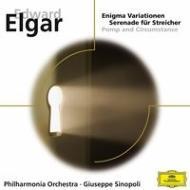 エニグマ変奏曲、弦楽のためのセレナード、『威風堂々』第1番  シノーポリ&フィルハーモニア管
