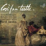 『コジ・ファン・トゥッテ』全曲 ヤーコプス&コンチェルト・ケルン、ジャンス、フィンク、他(1998 ステレオ)(3CD)
