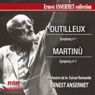 デュティユー:交響曲第1番、マルティヌー:交響曲第4番 アンセルメ&スイス・ロマンド管