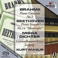 ブラームス:ピアノ協奏曲第1番、ベートーヴェン:ソナタ『月光』 ディヒター、マズア&ゲヴァントハウス管