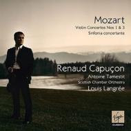 ヴァイオリン協奏曲第1番、第3番、協奏交響曲 R.カプソン、ラングレエ&スコットランド室内管、タメスティ