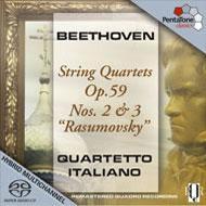 弦楽四重奏曲第8番、第9番 イタリア四重奏団