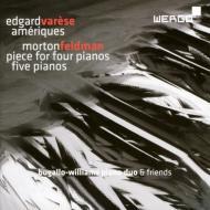 ヴァレーズ:アメリカ(2台ピアノ版)、フェルドマン:5台のピアノ、他 ブガッロ=ウィリアムズ・ピアノ・デュオ、他