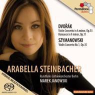 ドヴォルザーク:ヴァイオリン協奏曲、シマノフスキ:ヴァイオリン協奏曲第1番 シュタインバッハー、ヤノフスキ&ベルリン放送響