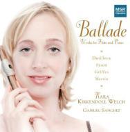 Works For Flute & Piano-dutilleux, Faure, Griffes, Martin: Welch(Fl)Sanchez(P)