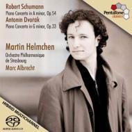 シューマン:ピアノ協奏曲、ドヴォルザーク:ピアノ協奏曲 ヘルムヘン、M.アルブレヒト&ストラスブール・フィル