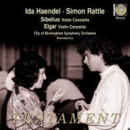 シベリウス:ヴァイオリン協奏曲、エルガー:ヴァイオリン協奏曲 イダ・ヘンデル、ラトル&バーミンガム市響