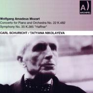 交響曲第35番『ハフナー』、ピアノ協奏曲第22番 シューリヒト&ウィーン・フィル、ニコラーエワ(1956)