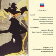 ラロ:スペイン交響曲、管弦楽曲集、シャブリエ:管弦楽曲集 アンセルメ&スイス・ロマンド管、リッチ(2CD)