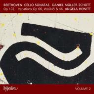 チェロ・ソナタ第4番、第5番、変奏曲集 ミュラー=ショット、ヒューイット