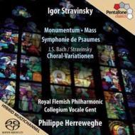 詩篇交響曲、ミサ曲、他 ヘレヴェッヘ&ロイヤル・フランダース・フィル、コレギウム・ヴォカーレ