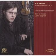 モーツァルト(1756-1791)/Violin Concerto 3 4 5 : Irnberger(Vn) Sieghart / Spirit Of Europe (Hyb)