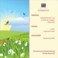 ルーセル:交響曲第3番、第4番、『くもの饗宴』組曲、小組曲、ショーソン:交響曲、デュカス:ペリ、魔法使いの弟子 アンセルメ&スイス・ロマンド管(2CD)