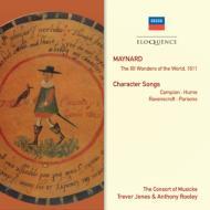 メイナード、ジョン(1577-1614)/12 Wonders Of The World 1611: Rooley / Consort Of Musicke +character Songs