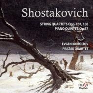 ピアノ五重奏曲、弦楽四重奏曲第7番、第8番 コロリオフ(p)、プラジャーク四重奏団