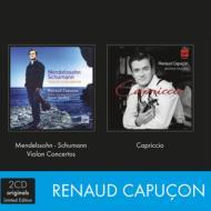 『カプリッチョ〜ヴァイオリン名曲集』、メンデルスゾーン、シューマン:ヴァイオリン協奏曲集 R.カプソン、ハーディング指揮、他(2CD)
