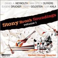 『ストーニー・ブルック・サウンディングス』第1集 エッシャー弦楽四重奏団、ケネス・チェ、オスカー・エスピナ・ルイス、他
