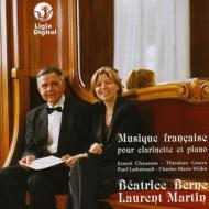 Musique Francaise-works For Clarinet & Piano: Berne(Cl)L.martin(P)