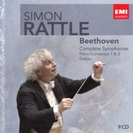 交響曲全曲、ピアノ協奏曲第1番&第2番、『フィデリオ』全曲 ラトル(9CD)