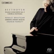 ピアノ協奏曲第5番『皇帝』、合唱幻想曲 ブラウティハム、パロット&ノールショピング響、エリクソン室内合唱団