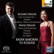 R.シュトラウス:ホルン協奏曲第1番(ピアノ伴奏版)、F.シュトラウス:主題と変奏、幻想曲、他 バボラーク、小菅優