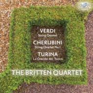 ヴェルディ:弦楽四重奏曲、ケルビーニ:弦楽四重奏曲第1番、トゥリーナ:闘牛士の祈り ブリテン四重奏団