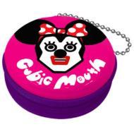 キュービックマウス 携帯シール入りジッパー缶ケース ミニー(Pink)