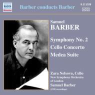 交響曲第2番、チェロ協奏曲、『メディア』組曲 バーバー&ロンドン新響、ネルソヴァ
