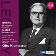 ブラームス:ドイツ・レクィエム、モーツァルト:セレナータ・ノットゥルナ クレンペラー&ケルン放送響(1956、54)