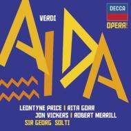 『アイーダ』全曲 ショルティ&ローマ歌劇場、L.プライス、ヴィッカーズ、他(1961 ステレオ)(2CD)