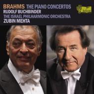 ブラームス:ピアノ協奏曲第1番、第2番、他 ブッフビンダー、メータ&イスラエル・フィル(2CD)