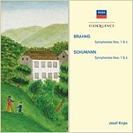 ブラームス:交響曲第1番、第4番、シューマン:交響曲第1番、第4番 クリップス&ウィーン・フィル、ロンドン響(2CD)