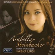 ブラームス:ヴァイオリン協奏曲、シューマン:交響曲第4番 シュタインバッハー、ルイージ&ウィーン交響楽団