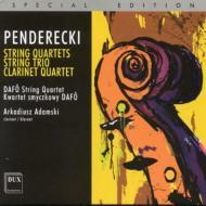 String Quartet, 1, 2, 3, Trio, Clarinet Quartet: Dafo Q Adamski(Cl)