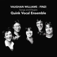 ヴォーン・ウィリアムズ:合唱作品集、フィンジ:3つの短いエレジー、他 クインク・ヴォーカル・アンサンブル