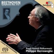 交響曲第4番、第7番 ヘレヴェッヘ&ロイヤル・フランダース・フィル