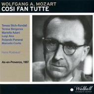 Cosi Fan Tutte: Rosbaud / Paris Conservatory O Stich-randall Berganza Alva Panerai