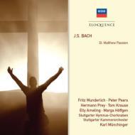 マタイ受難曲 ミュンヒンガー&シュトゥットガルト室内管、ピアーズ、プライ、アメリング、ヴンダーリヒ、他(3CD)
