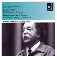 交響曲第7番、ピアノ協奏曲第5番『皇帝』 モントゥー&NBC響、ニューヨーク・フィル、ゼルキン(1953、1959)
