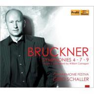 交響曲第9番(第4楽章完成版:キャラガン2010年改訂)、第4番、第7番 シャラー&フィルハーモニー・フェスティヴァ(4CD)