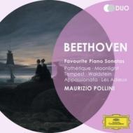 ピアノ・ソナタ集〜悲愴、月光、熱情、テンペスト、ワルトシュタイン、告別、他 ポリーニ(2CD)