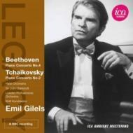 ベートーヴェン:ピアノ協奏曲第4番、チャイコフスキー:ピアノ協奏曲第2番 ギレリス、バルビローリ&ハレ管、コンドラシン&ロンドン・フィル