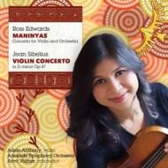 シベリウス:ヴァイオリン協奏曲、エドワーズ:ヴァイオリン協奏曲『マニニャス』 A.アンソニー、ヴォルマー&アデレード響