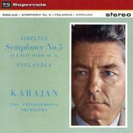 交響曲第5番、フィンランディア カラヤン&フィルハーモニア管弦楽団(1960、1959)(180グラム重量盤レコード/Hi-Q Records Supercuts)