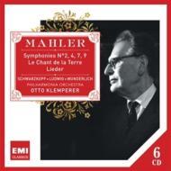 交響曲第2番、第4番、第7番、第9番、大地の歌、歌曲集 クレンペラー&フィルハーモニア管、他(6CD)
