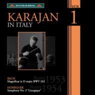 バッハ:マニフィカト(1953)、オネゲル:典礼風(1954) カラヤン&RAIローマ交響楽団