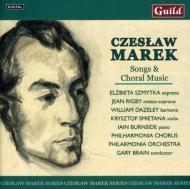 Songs & Choral Music: G.brain / Po & Cho Szmytka(S)Rigby(Ms)Dazeley(Br)Burnside(P)